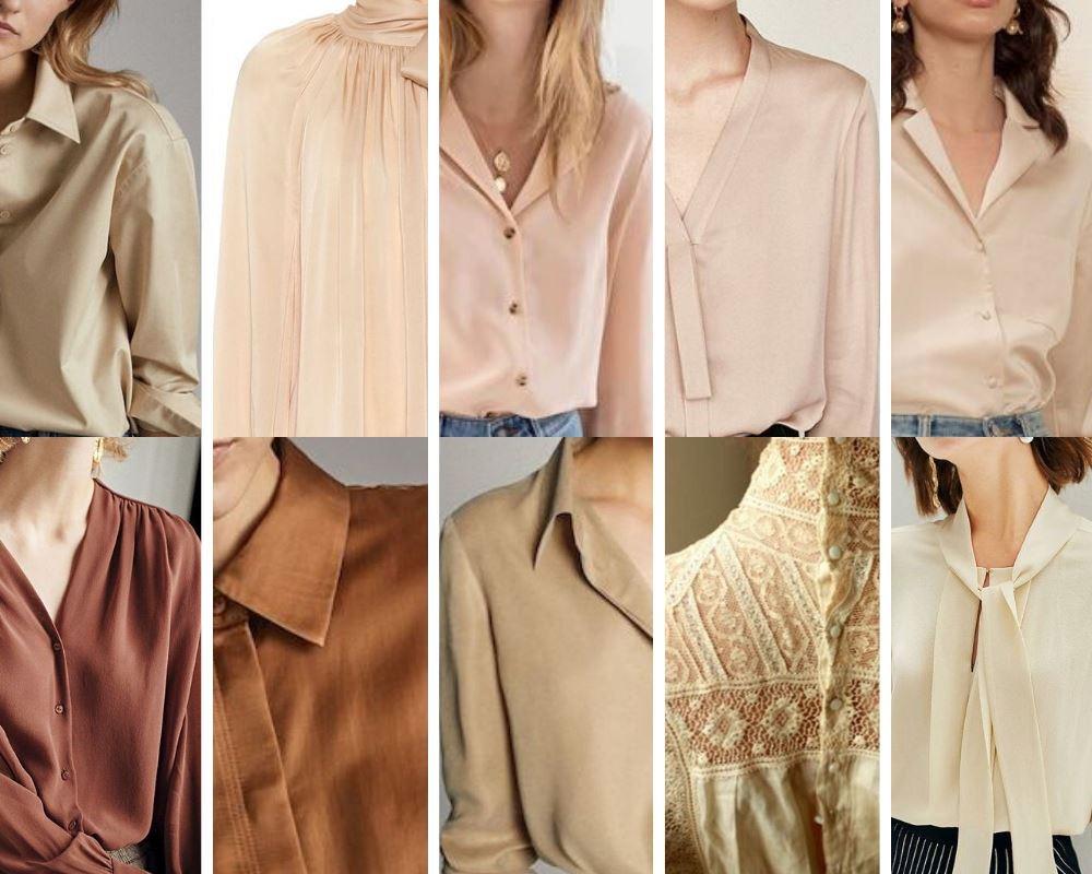 Biała bluzka dla Jesieni nie jest biała